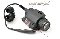 Funpowerland CR123A Battery Using with Pressure Switch Combo Pistol Led flashlight & Laser Sight