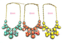 Necklaces Fashion jewelry 2013 accessories for woman necklaces Artificial gem royal vintage necklace cakes candy color necklace