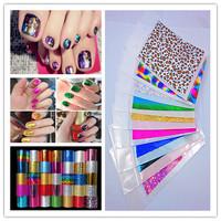 (100pcs/lot) Hot Selling multi color Transfer Foil for Nail Art, Nail Sticker (5.2~6)*9cm/pcs35 Designs(NS01)