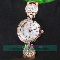 50pcs/lot JW-3455 Peach Heart Design Fashion Ladies Bracelet Alloy Watch Wrap Dress Quartz Watch