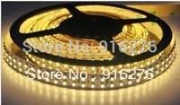 Wholesale - Double Row 12V 5m 5050 SMD LED strip light 120leds/m  White / warm white  waterproof IP67 Free Shipping