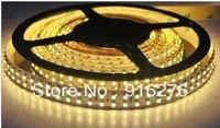 Double Row 12V 5m 5050 SMD 120leds/m  White / warm white 600 LED strip light waterproof IP67 in Silicone tube