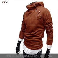 Free Shipping 2013 Hot High Collar Men's male Jackets,Sweatshirt,Dust Coat ,Hoodies Clothes,cotton wholesale,outwear,overcoat