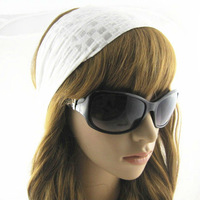 Westem Style Woman's Accessories Headwear Cotton  The wide Headbands White