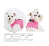 FREE SHIPPING Brand New Soft Adjustable Pink Pet Puppy Dog Mesh Comfortable Vest Harness L/XL