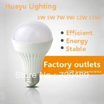 Free shipping factory direct E27 screw B22 Bayonet 220V high light efficiency 3W5W7W9W12W led energy saving lamp bulb(China (Mainland))