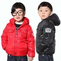 Superior Cotton-padded Warm Children Outerwear Winter Jackets Size 100-120 cm School Boy Casual Coat