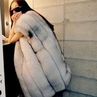 2014 New Spring Genuine Fox Fur Vest Nature Fox Fur Waistcoat Fashion Women Fur Coats Jackets Fashion Women Clothing Outerwear