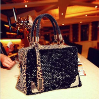 2013 spring and summer new European and American fashion lady leisure bag leopard sequins / shoulder bag Mobile Messenger