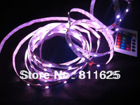 Non-Waterproof  RGB Led Strip Light 5050 SMD 150 LEDs 5M 30Leds/m Party Deco Car Lights + 24 key IR Remote control