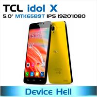original alcatel one touch TCL idol x s950 mtk6589t phone quad core 2gb ram Gorilla glass Russian Spanish in stock free shipping