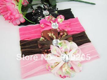 Free shipping 12pcs/lot baby hair accessories,girls headband, flower baby headband