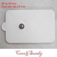 20 pcs/lot 9*6cm  Premium gel reusable tens replacement Electrode pads , digital acupuncture  therapy massager pads 3.9 stud