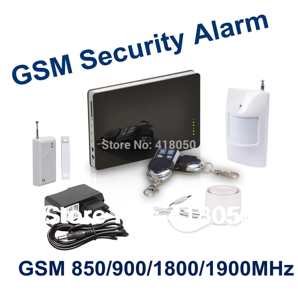 iOS Apps Supported ~ Smart Wireless Burglar GSM Home Security Alarm System, Remote Control by SMS & Calling Support Russian H304(China (Mainland))