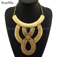 2013 New Jewelry Fashion Vintage Gold Chains Exaggerated Irregular Metals DIY Design Pendants Choker Necklaces CE1159