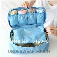 2013 new arrived Travel Waterproof nylon Storage Organizer bag Underwears Socks Storage Bag Organizer Free Shipping