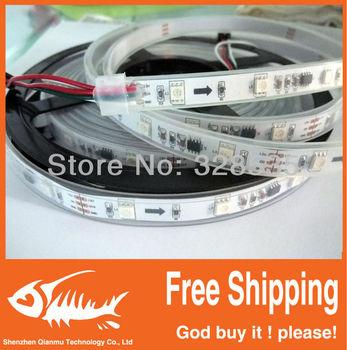 5m ws2811 50 ICs 5050 digital RGB Strip,150LED IP67 tube waterproof dream magic color 12V Led Strip,30LED/m + free shipping