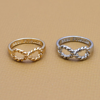 Top quality Fashion jewellery Special Infinity finger ring wholesale very nice gift Min order is $10 (mix different goods) R674