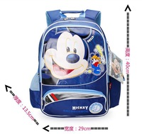 Free Shipping Special promotions Blue Color mickey Boy's school backbags