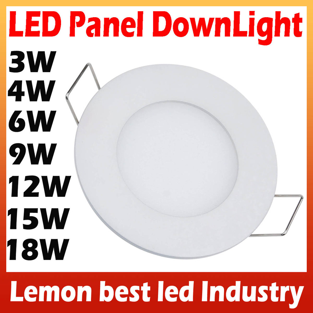 3W 4W 6W 9W 12W 15W 18W Bright CREE LED Recessed Ceiling Panel Down Light Lamp Cold White/Warm white AC85-265V Free Shipping(China (Mainland))