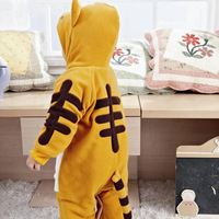 free shipping Cotton Flax yellow tiger style velvet jumpsuit climbing clothing rompers YH326