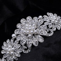 Free shipping flower pearl  bridal crown wedding tiara Bridal Wedding crystal Hairbands Party Prom Jewelry wholesale 1036