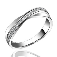 "TAK KEI SILVER Graceful Gesture"" 925 Sterling Silver Female Rings AAAAA CZ Diamond 5-story Platinum Plated"