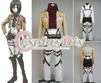 Shingeki no Kyojin Mikasa Ackerman Uniform from attack on titan cosplay Cosplay Costume