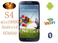 The latest version of i9500 Android 4 intelligent mobile phone operating system 4 inch capacitive screen