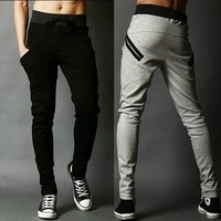 Free Shipping Hot Sale Men's Casual Stylish Pants Harem Long Pants For Men Skinny Sports Trousers With Drawstring 3 Colors  X73
