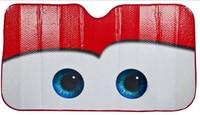 2013 New Car Lightning big eyes car front windshield sunshade red /green / free shipping