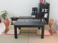Free shipping KotatsuJapanese living room tables reversible top Black/white folding tables for living room