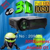 Android RJ45 Wifi USB LCD HDMIx2 720P 1080P Cinema HD Home Theater Office Game Video LED 3D Projector