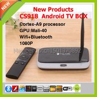 Free shipping CS918 Android 4.2 RK3188 TV Box Quad Core ARM Cortex-A9 Processor RAM 2GB ROM 8GB CDT-K25931 Support 1080P