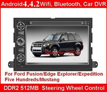 7''Car DVD for Ford Fusion/Edge Explorer/ Expedition/ Five Hundreds/Mustang Android / Wifi GPS Navigation/Steering Wheel Control