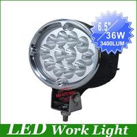 "Freeship,New, 6.5""  CREE 36W LED Work Light driving Lamp Truck SUV Mining Off-road Flood/Spot beam worklight led driving light"