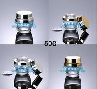 E2  Capacity 50g free shipping200pcs/lot Transparent Cream jar bright cover cream cans glass