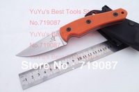 Top Quality Lightfoot Fixed Blade Knife,D2 Blade,Orange+Blue G10 Handle with K-Sheath Hunting Knife,Camping Tools,Hunting Tools
