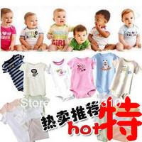 free shipping 5pcs/lot baby romper boy girl's short /lomg sleeve romper 100% cotton kids romper