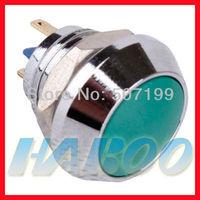 10pcs/lot dia.12mm 1NO IP67 waterproof anti-vandal PCB type momentary push reset metal push button switch