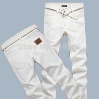 Excellent! 2014 New Fashion White Jeans Men Famous Brand High Quality Slim Fit Cotton Denim Pants Designer Calca Jeans Plus Size
