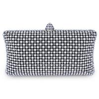 Evening Hard Clutch Bag Full Rhinestones Cream Pearl New Latest 2013 High Elegance Quality Shine Lady Party Wedding - VC Mart