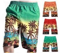 Beach shorts swim surf board shorts swimwear plaid short for Men / Men's running shorts / Male workout sports shorts