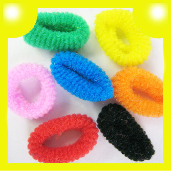 1000pcs Wholesale Girls Soft Ring Elastic Ties Hair Bands Ropes Headbands Multicolors 8334 Free Shipping