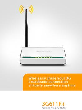 Tenda 3G611R+ English OS Wireless N150 3G Router,150Mbps 11n,1* WAN port and 4* LAN ports,Detachable 5dBi antenna
