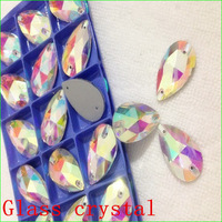 7x12mm~22x38mm pearshape sew on rhinestones Crystal AB color droplet sewing crystal