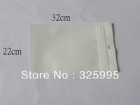 Free shipping 100pcs/lot ZipLock White Clear Plastic Packaging Retail Hanging Bags 22X32CM for phone cover bags