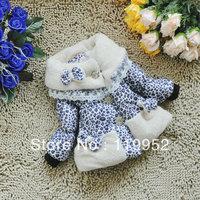 2013 girl coat new Bow floral thickening coat for girl ski jacket coat for children Warm coat 1pcs