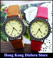 2013 new big table header 12 Constellation Ladies PU fashion watches luxury watches  / wholesale*Gift Box