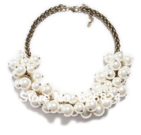 COLLAR MAXI PEARL CHAIN NECKLACE,Two-Strand Pearl Necklace,2013 NEW PEARL NECKLACE,HOLLYWOOD STYLE,HIGH QUALITY!FREE SHIPPING